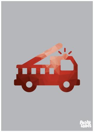 kinderkamer poster jongens brandweer