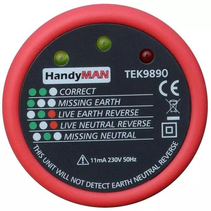 HandyMAN TEK9890 Socket Tester