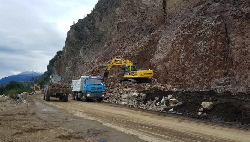 trabajos en ruta 40 entre villa la angostura y bariloche
