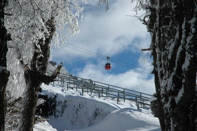 Teleférico Cerro Otto en Bariloche en invierno
