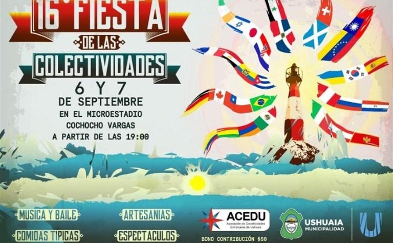 Flyer Fiesta de las Colectividades en Ushuaia