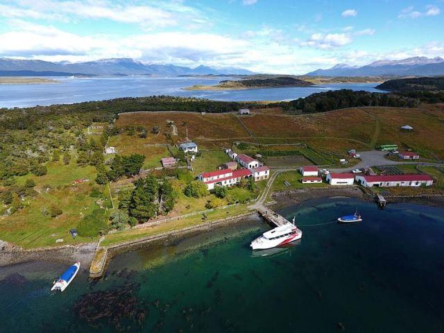 Vista aérea de la estancia Herberton.