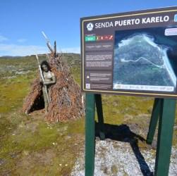 Cartelería del nuevo Sendero Interpretativo De Puerto Karelo En Ushuaia