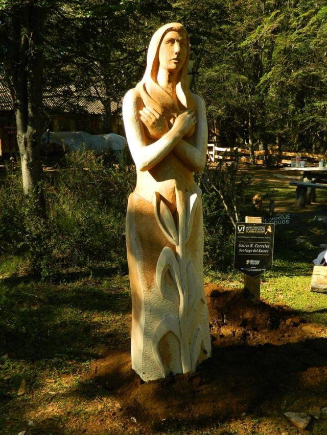 Escultura del bosque.