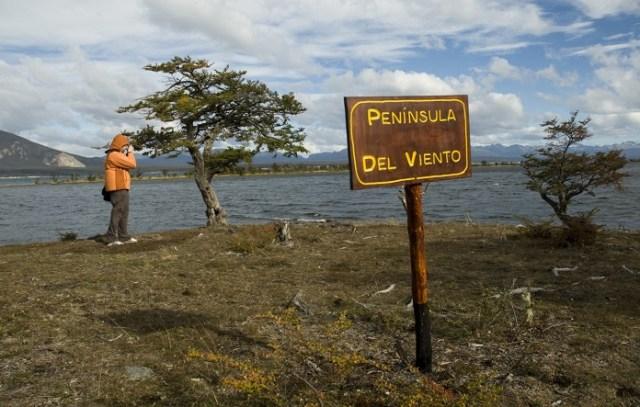 Peninsula del Viento, en el sendero de Laguna Negra.