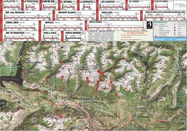 Mapa senderos de El Bolsón