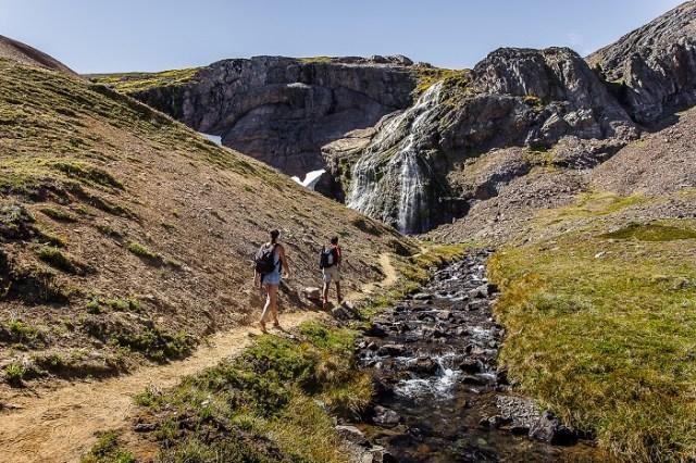 Sendero por el Corredor de los Andes en la Patagonia.