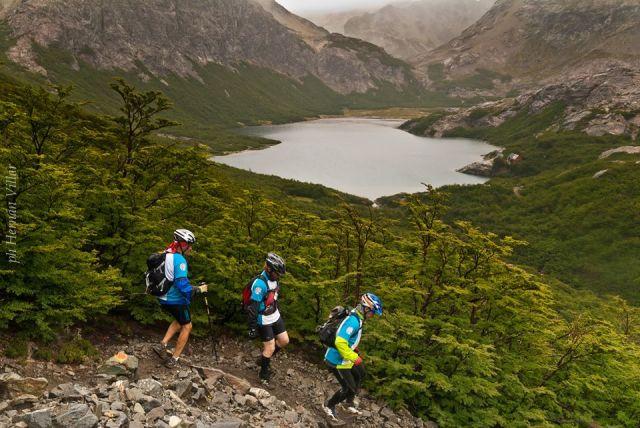 Competidores de la última edición de 4 refugio en Bariloche.