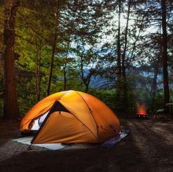 Campamento en El Bolsón.
