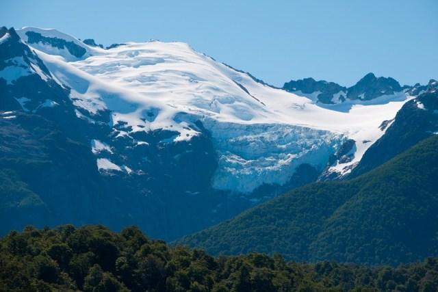 Panorámical del glaciar Torrecillas.
