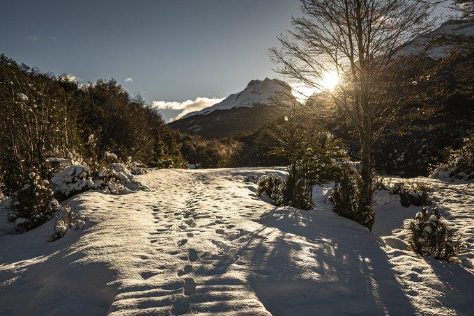 Parque Tierra del Fuego, en invierno