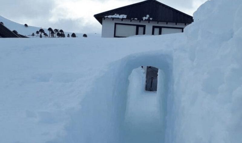 Túnel Caviahue hielo nieve