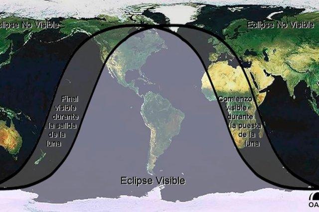 Visibilidad del Eclipse de Trueno.