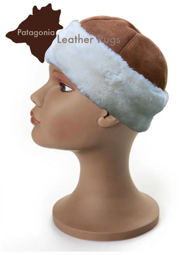 Echt Lammfell mütze BONNET EN PEAU DE MOUTON