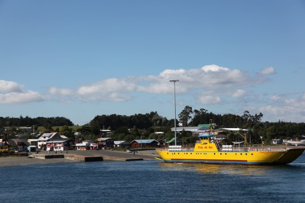 Ferry crossing to Chiloe Island Patagonia, Chile