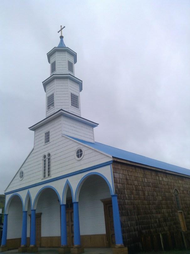 Unesco Wooden Church of Dalcahue Chiloé, Patagonia Chile