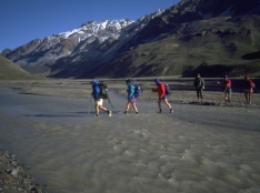 Guanacos Valley river crossing