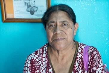 A Pro Mujer client has come to make a payment on her micro-loan in San Sebastian Tutla outside of Oaxaca.