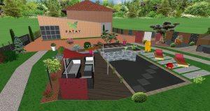 Plan 3D paysage paysagiste virtuel projet conception