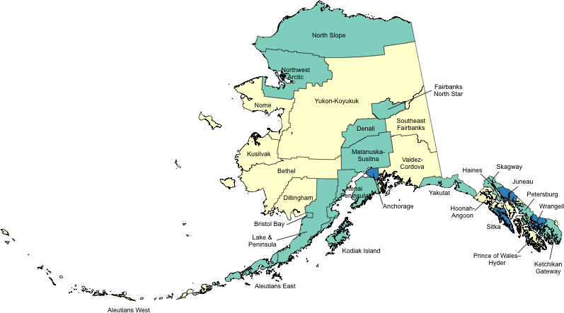 Alaska Boroughs and Census Areas