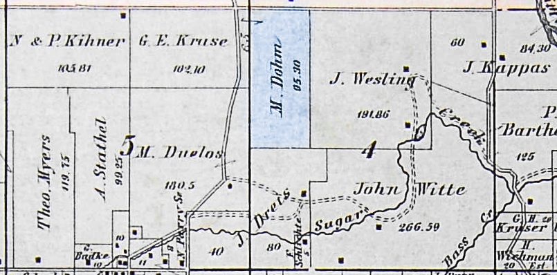 1879 Plat Map, section 4 & 5 of Auburn township, Fayette County,Iowa.