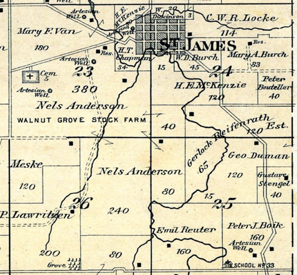 1889 Plat Map Sections 7-18, Township 32N R3.