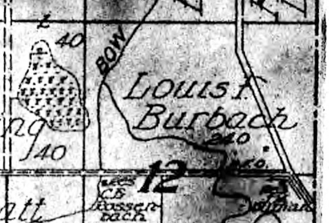 Township 31 N, Range 2E, Cedar County Nebraska, section 12 - Louis F. Burbach Farm.