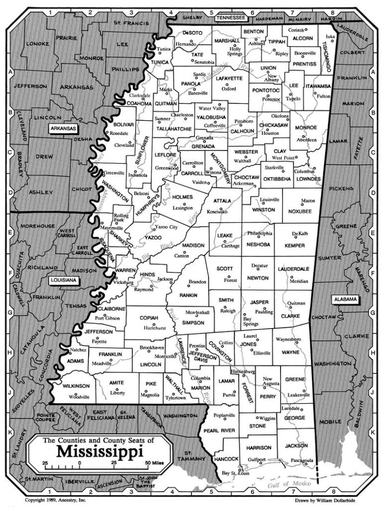 The Counties and County Seats of Mississippi