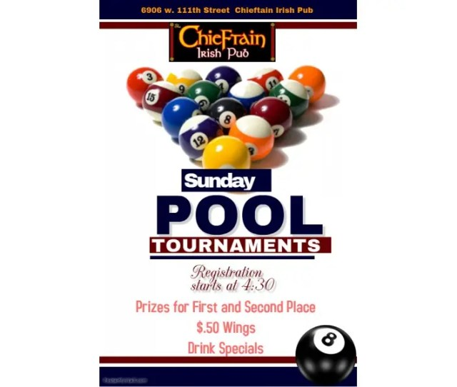 Like To Play Pool Stop In Sundays To Chieftain