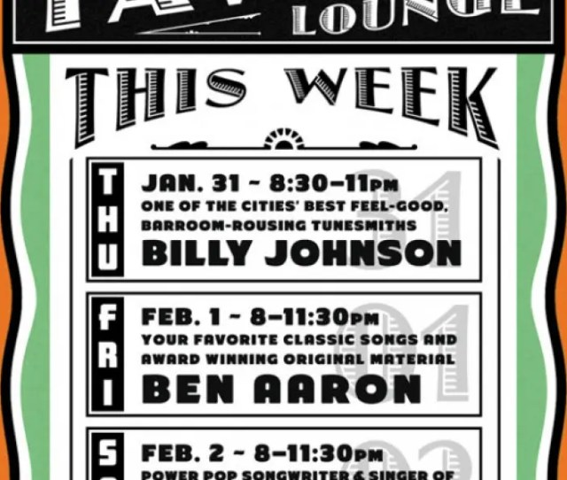 Dont Miss Another Fantastic Weekend Of Live Entertainment At The Tavern Lounge