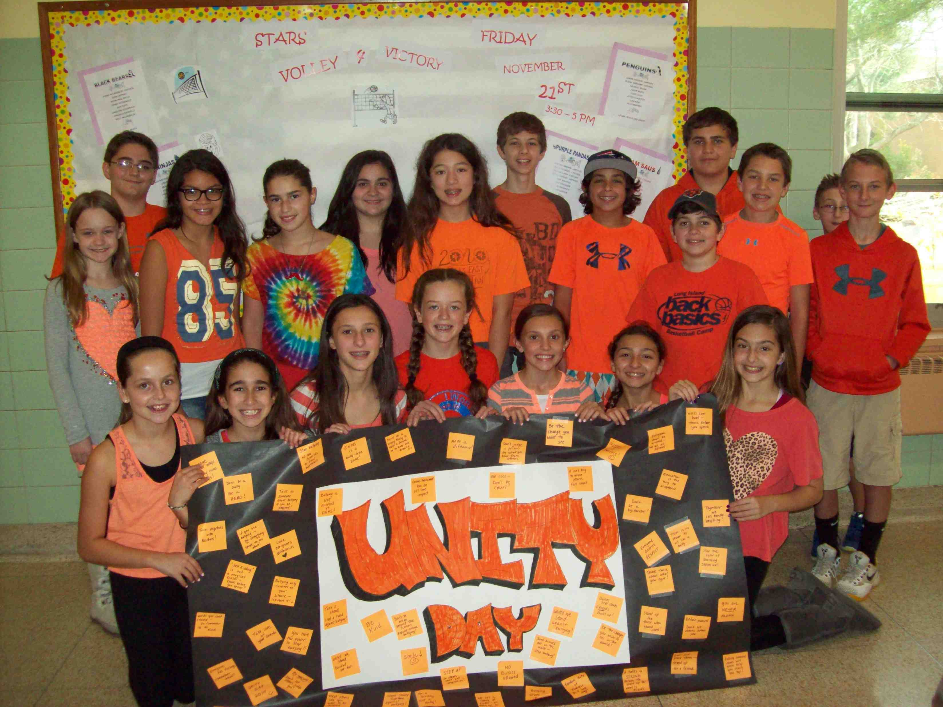 East Northport Middle School Stands United Against