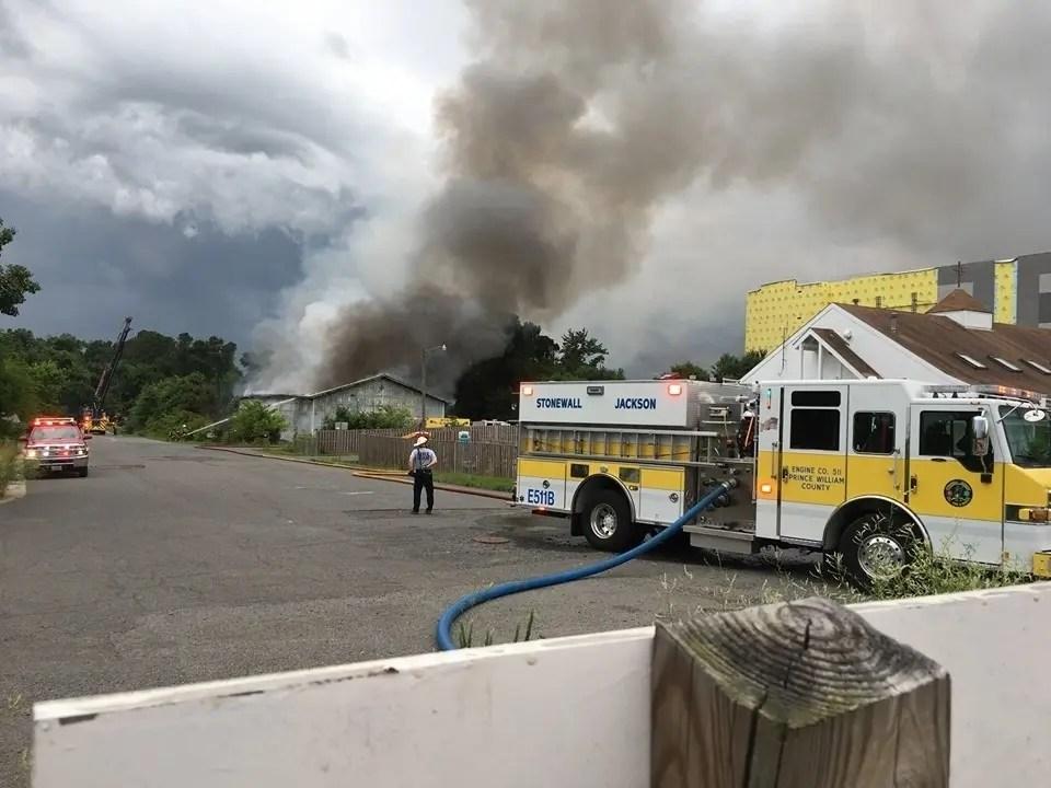 Lightning Strike Sparks Business Fire In Gainesville