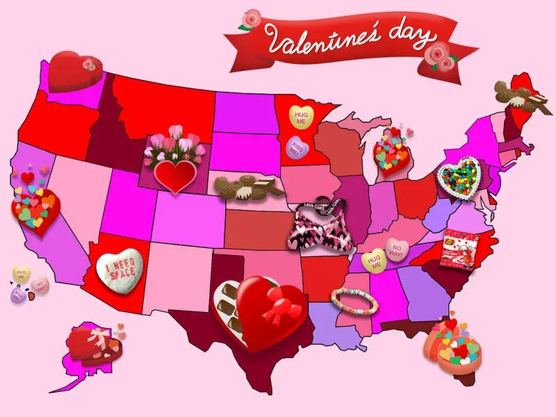 Heres Americas Top Valentines Day Candy By State Patch