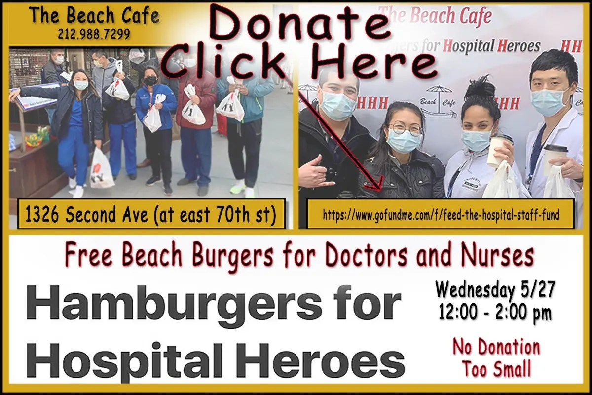 You're invited: Hamburgers for Hospital Heroes