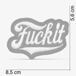 "Patch Bordado ""Fuck it"", com termocolante 8,5x5,6cm da PATCH GANG"
