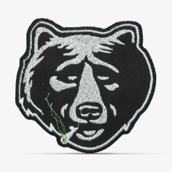 Patch Bordado Urso fumando com termocolante 8,5x8,1cm da PATCH GANG