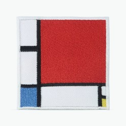 Patch Bordado Quadro do artista Mondrian, com termocolante 8,3x8,5cm da PATCH GANG