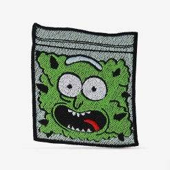 Patch Bordado Rick Bud do desenho Rick and Morty, com termocolante 7,7x8,2cm da PATCH GANG