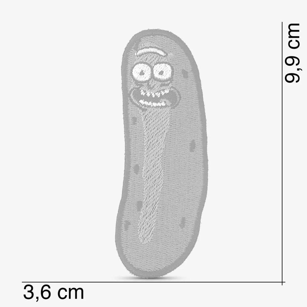 Patch Bordado Pickle Rick do desenho Rick and Morty, com termocolante 3,6x9,9cm da PATCH GANG