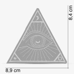 Patch Bordado Olho da Providência, Olho illuminati dourado, com termocolante 8,9x8,4cm PATCH GANG