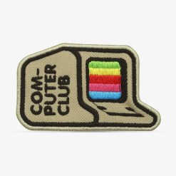 "Patch Bordado Computador vintage ""Computer Club"" com termocolante 8,5x5,1cm da PATCH GANG"