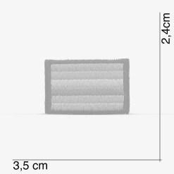 Patch Bordado pequeno, bandeira LGBT, Orgulho LGBT, com termocolante 3,5x2,4cm da PATCH GANG