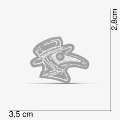 Patch Bordado pequeno, Médico da Peste Steam Punk, com termocolante 3,5x2,8cm PATCH GANG