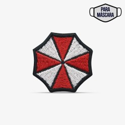 "Patch Bordado pequeno, ""Umbrella Corp."" jogo Resident Evil, com termocolante 3,5x3,5cm PATCH GANG"