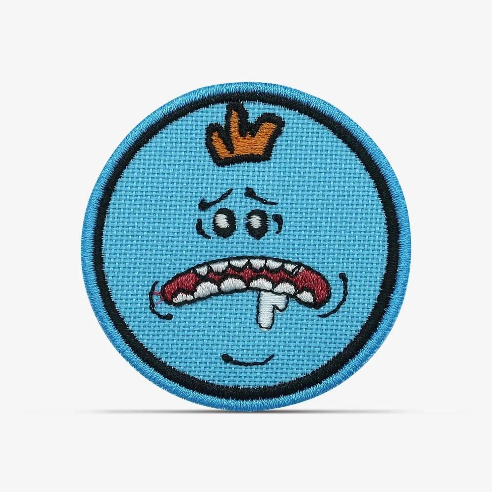 patch bordado adesivo termocolante customização Rick morty meeseeks babando