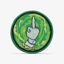 patch bordado adesivo termocolante customização Rick morty dedo portal