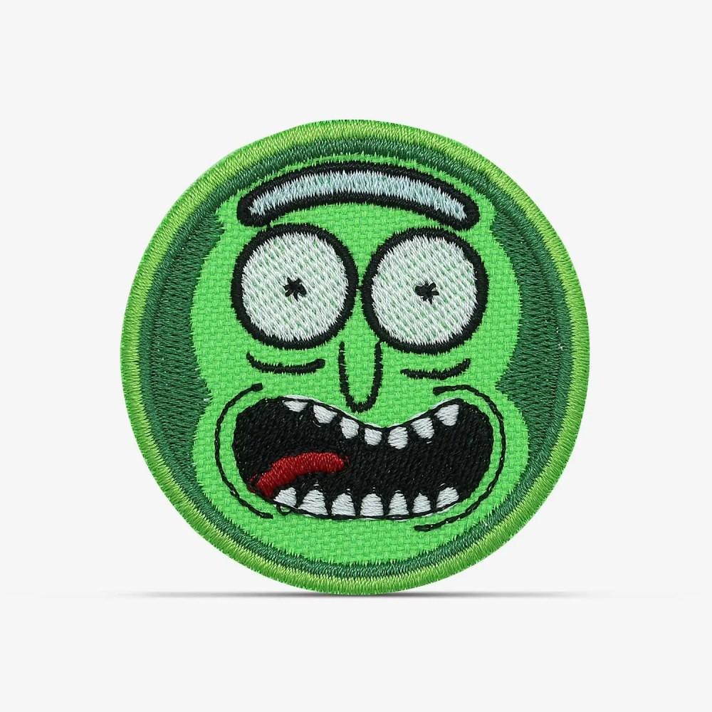 patch bordado adesivo termocolante customização pickle rick morty