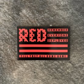 Ryan Weaver Heroes Collection- R.E.D. Vinyl Decal-  Red/Black Flag