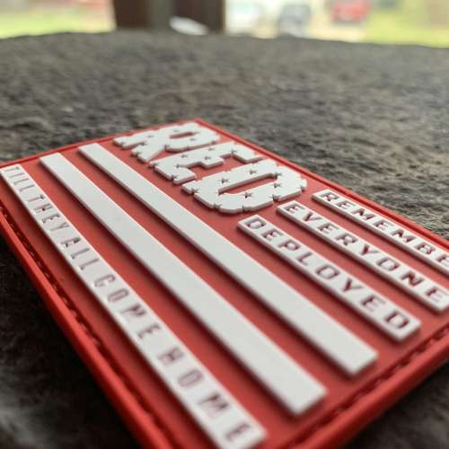 Ryan Weaver Heroes Collection- Remember Everyone Deployed PVC Patch-  Red/White