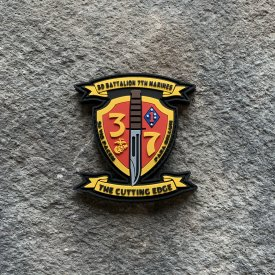 New 3/7 Logo PVC Unit Patch